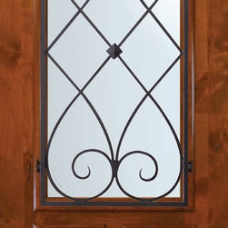 Slab Single Door 80 Wood Alder Charleston Arch Lite