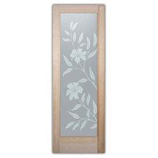 Tropical Interior Doors by Sans Soucie Art Glass