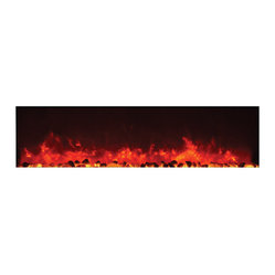 Wall Mount Electric Fireplace, Frosted White Glass