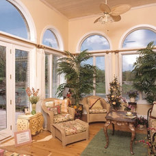 Tropical Family Room by Lausman Building