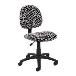 Boss Office Products Deluxe Posture Office Chair - Every room needs a little animal print, right? This task chair will make your sewing life so much easier by adjusting between work surface heights.