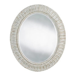 Stanley - Arrondissement Jardin Mirror, Vintage Neutral - Gardens may not be the first thing you think of when someone says Paris, but the city has a remarkable variety of natural sanctuaries to explore. Our Jardin Mirror is inspired by those gardens of earthly delights. A stunning leaf carving embellishes the oval design whether you choose the Vintage Neutral or Rustic Charcoal finish.