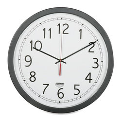 National Industries For the Blind - SKILCRAFT 16.5 Round Workstation Wall Clock - Analog - Quartz - SKILCRAFT Quartz-Movement wall clocks include a quartz movement for extreme accuracy (+/- 2.0 minutes per year accuracy). High-impact plastic frames are made using 30% post-consumer recycled content that will biodegrade in a landfill in approximately 2 years. Clocks include white dials with black Arabic numerals and minute marks, black hour and minute hands. Logo clocks include a white dial, black hour and minute hands, and a brass second hand. Logo clocks include customizable Federal agency and military logos. Clocks can be set manually for use outside U.S. time zones and where Daylight Savings does not apply. Clocks use one AA battery (not included).