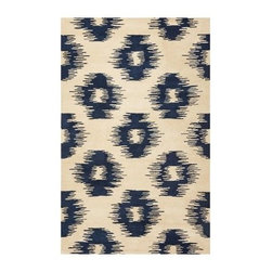 KAS Rugs TAP6801 Tapestry Area Rug - Ivory / Blue - The KAS Rugs TAP6801 Tapestry Area Rug - Ivory / Blue is a fun and lively way to complete your home. Crafted from 100-percent wool material, this hand-tufted area rug offers a rich, plush surface that warms and calms any space. Great for any living area or transitional space, this handsome area rug features a contemporary design that invigorates a room. Choose from a variety of sizes for the rug that best completes your home.About KAS RugsKAS Oriental Rugs, Inc. is one of the rug industry's leading suppliers of imported handmade and machine-made rugs. KAS was founded in 1981 by Rao Yarlagadda and his wife Kas. KAS started as a small importer selling Indian Dhurries and quickly became known as a forerunner in color and design trends. As a family business, KAS has retained a small company atmosphere while building an infrastructure to support its growing sales. Over the last 23 years, the company has valued every relationship and has given personal attention to each and every customer. This, coupled with extensive product growth, has supported KAS' leading position in this market, now servicing customers in every category of floor coverings and all channels of distribution throughout the United States.