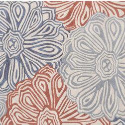 The Rug Market - Multi Flower area rug -