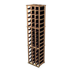 Wine Cellar Innovations - Designer 3-Column Magnum Wine Rack (All-Heart Redwood - Unstained) - Choose Wood Type and Stain: All-Heart Redwood - Unstained. Bottle capacity: 48. Three column wine rack. Beveled ends and rounded edges ensures wine labels will not tear when the bottles are removed. Full wine bottle depth coverage at 13.5 deep. 16.19 in. W x 13.5 in. D x 72 in. H (28 lbs.). Rack should be attached to a wall to prevent wobble. Designer collection. Made in USA. Warranty. Assembly Instructions