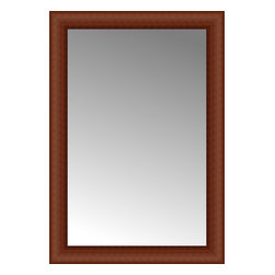 """Posters 2 Prints, LLC - 21"""" x 30"""" Ansley Cherry Custom Framed Mirror - 21"""" x 30"""" Custom Framed Mirror made by Posters 2 Prints. Standard glass with unrivaled selection of crafted mirror frames.  Protected with category II safety backing to keep glass fragments together should the mirror be accidentally broken.  Safe arrival guaranteed.  Made in the United States of America"""