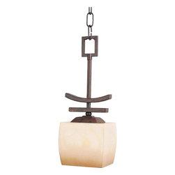 Joshua Marshal - One Light Wilshire Glass Roasted Chestnut Down Mini Pendant - One Light Wilshire Glass Roasted Chestnut Down Mini Pendant