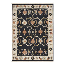 Surya - Surya Southwestern/Lodge Nomadic Kilim Black 9'x13' Rectangle Area Rug - The Nomadic Kilim area rug Collection offers an affordable assortment of Southwestern/Lodge stylings. Nomadic Kilim features a blend of natural Black color. Handmade of 100% New Zealand Wool the Nomadic Kilim Collection is an intriguing compliment to any decor.