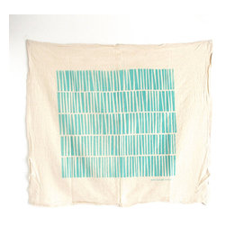 Handmade Organic Stripes Dishtowel - Add color and life to your kitchen with this thin and super absorbent dishtowel. Handmade using organic cotton, each towel's striped design is screen-printed by hand using eco-friendly, nontoxic ink.