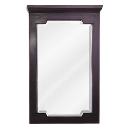 Hardware Resources - Chatham Shaker Jeffrey Alexander Mirror 22 x 1-1/2 x 34 - 22 x 34 Aged Black mirror with beveled glass
