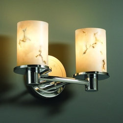 Justice Design Group - Justice Design Group FAL-8512 Rondo 2 Light Bathroom Bar Fixture LumenA - Justice Design Group FAL-8512 Rondo 2 Light Bathroom Bar Fixture from the LumenAria CollectionThe LumenAria� Collection offers the look of genuine carved alabaster without the cost. These faux alabaster fixtures combine many of your favorite Justice Design Group, LLC shapes with the warmth and beauty of an alabaster glow.From an elegant lamp atop a contemporary end table to a dramatic sconce illuminating a formal entryway, Justice Design offers a wide array of lighting solutions for residential and commercial settings. Create a mood, complement a theme, or simply add the perfect accent with a Justice Design decorative lighting fixture.