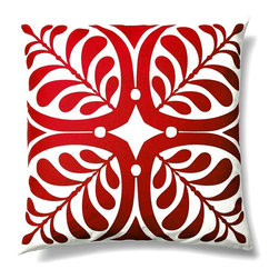 5 Surry Lane - Indoor Outdoor Modern Contemporary Graphic Floral Decorative Throw Pillow, Red, - Add just the right amount of color to your deck or patio.  100% soft polyester.  Hidden zipper closure.  Down insert included.  Water resistant.  Mold and mildew resistant.  Withstands UV rays.