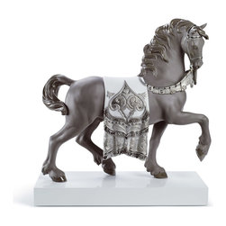 """Lladro Porcelain - Lladro A Regal Steed Re Deco Figurine - Plus One Year Accidental Breakage Replac - """"Hand Made In Valencia Spain - Sculpted By: Alfredo Llorens - Included with this sculpture is replacement insurance against accidental breakage. The replacement insurance is valid for one year from the date of purchase and covers 100% of the cost to replace this sculpture (shipping not included). However once the sculpture retires or is no longer being made, the breakage coverage ends as the piece can no longer be replaced. """""""