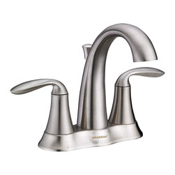 Speakman - Speakman Brenta 4 Inch Centerset Faucet in Brushed Nickel - The smooth, fluid curves that flow throughout the frame of the Speakman Brenta Centerset Bathroom Faucet defines luxury in the transitional bathroom. By combining elements of traditional designs with current trends in modern fashion, the Brenta centerset faucet will subtly blend with varying trends in bathroom decor. The Brenta Centerset Bathroom Faucet features solid, lead free brass construction to ensure safe, unrivaled durability. The Brenta transitional centerset faucet is precisely engineered to disperse a WaterSense approved 1.5 gallons of water per minute while maintaining powerful, soothing streams. The Brenta SI-F013 features easy installation, drain assembly and is available in both Polished Chrome and Brushed Nickel finishes to effortlessly blend with existing fixtures and decor.