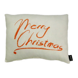 lava - Merry Christmas Pillow - Lava pillows are formed when eruptions of hot rock flow into distinctive creations and are quickly frozen by cool seawater. Lava is a trademark of American Mills, Inc. All lava products are made in America. Add elegant style to your home decor with lava decorative throw pillows.Features: -Durable 100 percent polyester cover and fill. -Spot clean only. -Made in the USA.