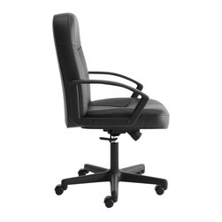 Hon - Basyx Mid-Back Executive Chair - Let's be frank. You aren't Chairman of the Board, but you're sure to croon when you feast your ol' blue eyes on this professional chair. The cushy leather-like fabric seat and back adjust so you can hit the high and low notes — and do it your way.