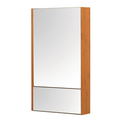 Decolav - Decolav Eastridge Medicine Cabinet in Bamboo - Bathroom medicine cabinet.Wall-mountDoors are left and right adjustable. It Includes mirror. Eastridge collection.