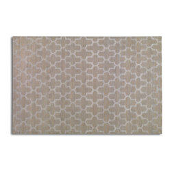 Uttermost - Uttermost Karima 8 x 10 Hand Knotted Rug 70020-8 - Hand Knotted Beige Wool With With Light Gray Details In A Wool And Viscose Blend.