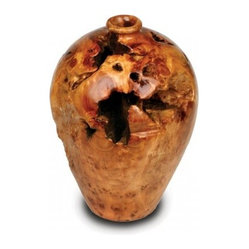 Enrico Root Wood Large Urn