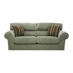 """Jackson Furniture - Mesa Sleeper Sofa in """"Sage"""" Fabric - 4366-04S - Mesa Collection Sofa Sleeper"""