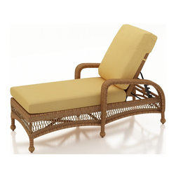 Forever Patio - Catalina Traditional Single Adjustable Chaise Lounge, Straw Wicker, Wheat Cushio - The Forever Patio Catalina Single Adjustable Chaise Lounge in Straw Wicker with Gold Sunbrella® Cushions (SKU FP-CAT-ACL-ST-CW) offers a blend of traditional design and modern comfort, creating a perfect place to relax out on your patio. The UV-protected, straw-colored wicker incorporates subtle shifts in tones, providing a look that is complex and beautiful. This lounge includes fade- and mildew-resistant Sunbrella® cushions.