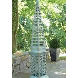 Antique Topiary Garden Obelisk in Green by The Well Appointed House - This garden obelisk stands 87 inches high and reminds me of a pagoda. It would make a very impressive addition to the garden.