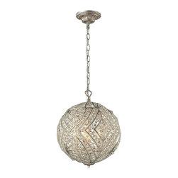 Elk Lighting - Renaissance 5-Light Pendant in Sunset Silver - Renaissance (existing) Collection 5 light pendant in sunset silver