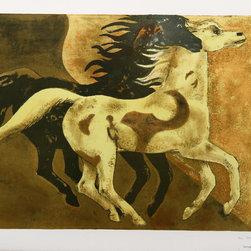 Millard Owen Sheets, Two Horses, Lithograph - Artist:  Millard Owen Sheets, American (1907 - 1989)