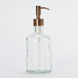 Copper Soap Dispenser - I love using a soap dispenser to hold dish soap by the kitchen sink. This one is extra fancy with a copper top. It would also be great for lotion or hand soap in the bathroom.