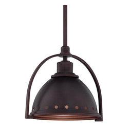 "Minka Lavery - Minka Lavery 2248-576 1 Light 8"" Height Indoor Mini Pendant in Brushed Bronze - Single Light 8"" Height Indoor Mini Pendant in Brushed BronzeFeatures:"