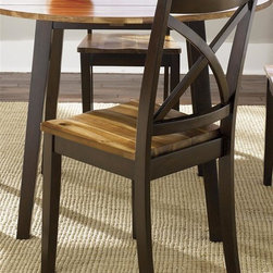 Liberty Furniture - Cafe X Back Side Chair - Set of 2 - Set of 2. RTA construction. Nylon glides. Warranty: One year. Made from solid wood. Acacia and merlot finish. Made in Vietnam. 18 in. W x 20 in. D x 38 (19 lbs.)