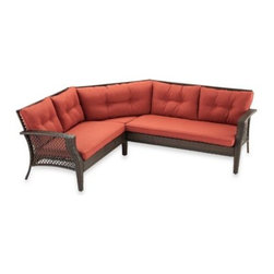 Ace Evert Inc. - Wicker Sectional Sets - Sofa consists of a right arm chair, left arm chair and middle triangular chair to provide sectional seating for any outdoor setting. Made using an all steel body for strength and a wicker design for elegant styling.