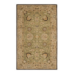 """Safavieh - Safavieh Anatolia AN512C, Olive, Beige, 9'6""""x13'6"""" Rug - Anatolia Collection brings old world sophistication and quality in new tufted rugs. This collection captures the authentic look and feel of the decorative rugs made in the late 19th century in this region. Hand spun wool and an ancient pot dying technique together with a densely woven thick pile, gives Anatolia rugs their authentic finish."""