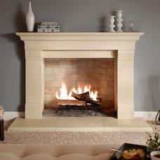 Transitional Indoor Fireplaces by Eldorado Stone