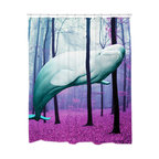 Sharp Shirter - Sharp Shirter 40,000 Leagues Under the Trees Shower Curtain - This curtain is printed in USA!. Hooks sold separately. Disclaimer: If you order multiple items, they may ship from separate locations.