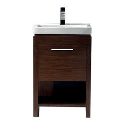 VIGO VG09027118RHK1 21-inch Adonia Single Bathroom Vanity Wenge