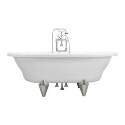 """The Tub Studio - Masina 73"""" Extra Wide White Acrylic Double Ended Clawfoot Tub Package - Product Details"""