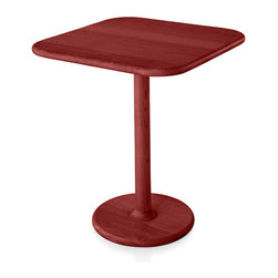 Mattiazzi - Solo Table - Stars or no stars, you'll dance a mean paso doble with this fiery lady in red. It's crafted of solid ash stained red with hand fitted joints. It's the perfect size for two chairs, two cappuccinos and two to tango.