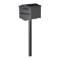 Architectural Mailboxes - Basic In-ground Post Black - Post haste. If you need a mailbox post put in the ground quickly and easily, this is the one for you. This simple, in-ground post is crafted of galvanized steel and powder coated to compliment your mailbox. With mounting hardware and instructions included, you'll be able to have it up in no time.Constructed of galvanized steel and powder coated to match your mailbox. Finish is fully powder coated  Includes all mounting hardware and instructions post is 2mm galvanized steel Support plate is 1.2mm galvanized steel Works with 5500 series and 6200 series