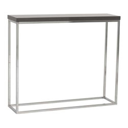Eurostyle - Eurostyle Teresa Console Table in Gray Lacquer & Chrome - Console Table in Gray Lacquer & Chrome belongs to Teresa Collection by Eurostyle There's plain and there's perfect. This collection of 4 Teresa table designs are not only perfectly designed for strength and timeless style, they work beautifully together. Go for the group! Console Table (1)