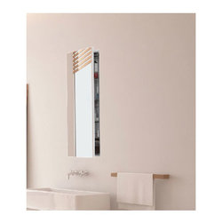Electric Mirror - Simplicity Large Mirror Cabinet Recessed Left Hinge - Simplicity Large Mirrored Medicine Cabinet, Recessed Mount, Left Hinged, is a simple yet flawless application for any bathroom. Features a Matte Silver finish, four adjustable glass shelves, HardCoat anti-corrosion mirror treatment, and interior 20 amp, 120 VAC GFCI receptacle with two outlets. Available in three sizes. UL listed for damp locations. Small: 23.25 inch width x 24 inch height x 4 inch depth. Medium: 23.25 inch width x 30 inch height x 4 inch depth. Large: 23.25 inch width x 36 inch height x 4 inch depth.
