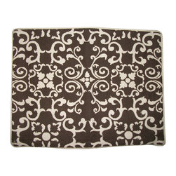 "Metrohouse Designs - Chocolate Brown Garden Gate Accent Pillow - Outstanding beautiful ""garden gate"" Accent Pillow"
