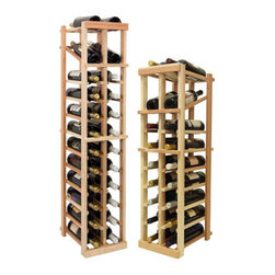 Wine Cellar Innovations - Vintner Wine Racks - Individual Bottle - 2 Columns W/ Display - Each wine bottle stored on this two column individual bottle wine rack is cradled on customized rails that are carefully manufactured with beveled ends and rounded edges to ensure wine labels will not tear when the bottles are removed. This wine rack also has a built in display row. moved. This wine rack also has a built in display row. Purchase two to stack on top of each other to maximize the height of your wine storage. Moldings and platforms sold separately. Assembly required.