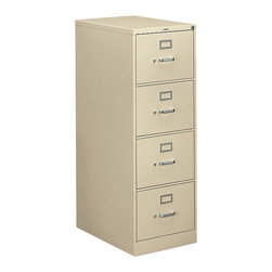"Hon - Hon 310 4-Drawer Legal File - File this one under ""F"" for functional. A locking, four-drawer cabinet has plenty of space for your legal hanging files so you can stay organized. It's made of putty-colored steel, with label holders, so you can easily find your stuff."