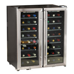 Wine Enthusiast - Wine Enthusiast 48-Bottle Dual-Zone Free Standing Wine Cooler - -Virtually silent thermoelectric, energy-efficient, cooling technology in 2 separate 24-bottle compartments