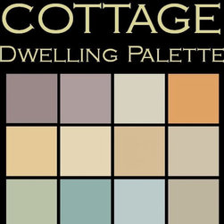 "Benjamin Moore Paint colors - Color in Space Cottage Palette™--cute & homey - Each palette consists of twelve Benjamin Moore® paint colors in 4"" swatches and no colors are repeated. The intentional selection of the twelve colors ensures that they are energetically balanced and will create the feeling of the dwelling for which it is named."