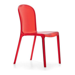 Zuo Modern - Zuo Gumdrop Dining Chair in Transparent Red [Set of 4] - Dining Chair in Transparent Red belongs to Gumdrop Collection by Zuo Modern Playful, youthful, and joyful is everything you feel when you see the Gumdrop chair. Durable in any situation, this single mold polycarbonate chair was designed to handle the pressure of youthful excitement. Created for the outdoors in mind this UV treated chair will handle the heat. It also has the ability to stack for easy storage. Look no further for the perfect accent for your d�cor. Dining Chair (4)