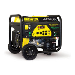 Champion - 71531 Champion Duel Fuel Generator - This Champion portable generator provides dependable,mobile power for your home,camp site or job site. Whether you are running some very high powered lights,or the power to your refrigerator,this machine will definitely have you covered.