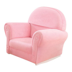 KidKraft - Upholstered Rocker with Slipcover, Pink by Kidkraft - This Pink Velour Rocker is just like mom and dad�s furniture only kid-sized. With padded, thick cushioning our rocker is a comfy place for kids to read stories, play let�s pretend, or just relax.